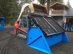 Front view of the DeSite SLG-108VF Topsoil Screener